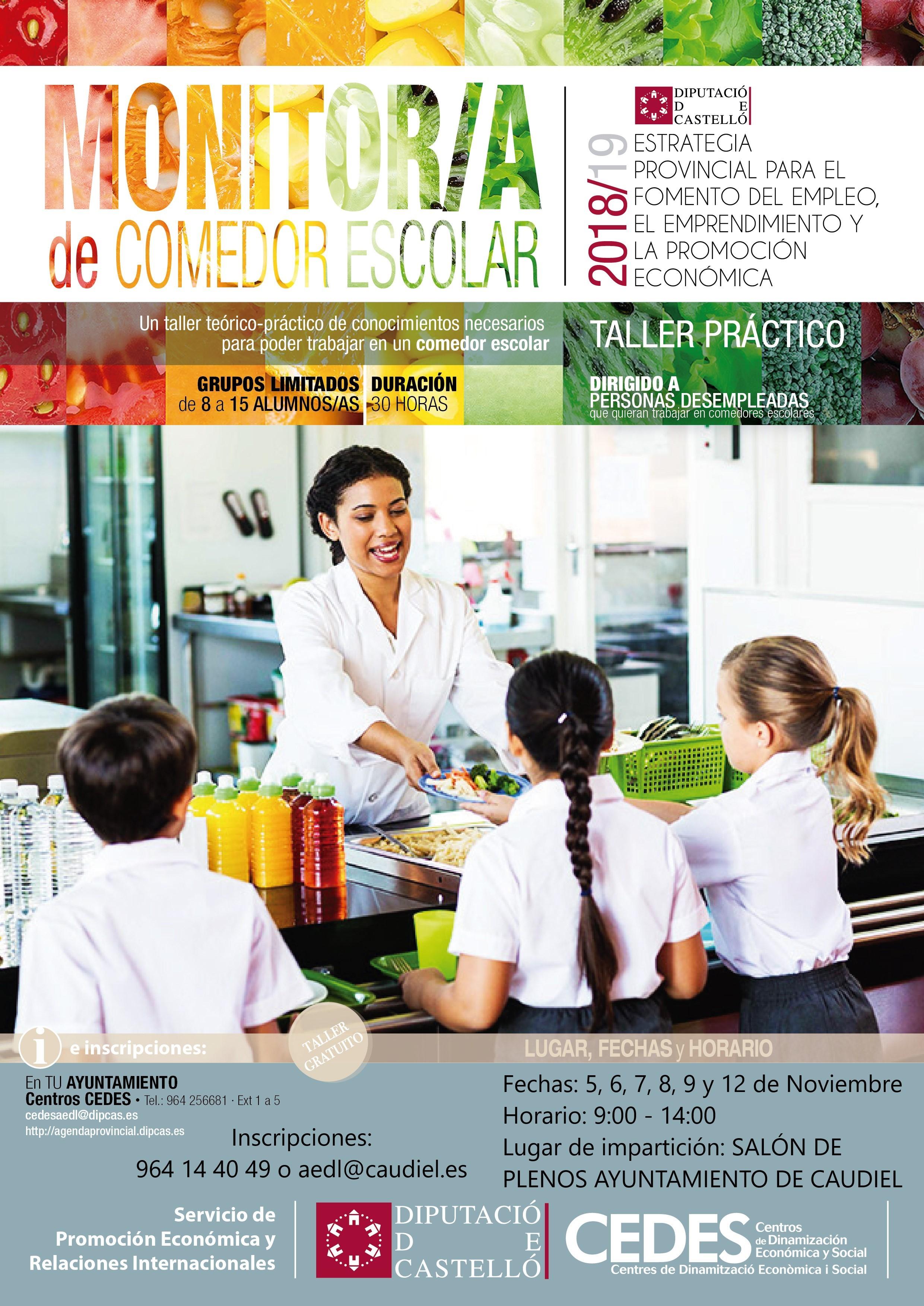 Formación de monitor/a de comedor escolar | Caudiel | eBando